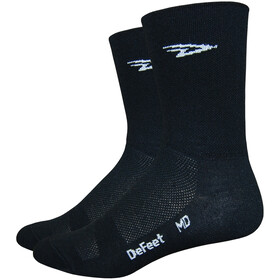 "DeFeet Aireator 5"" Double Cuff Socks, d-logo/black"
